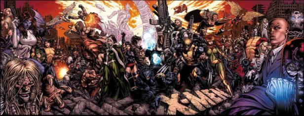 Poster comemorativo dos 50 anos dos X-Men, por David Finch.