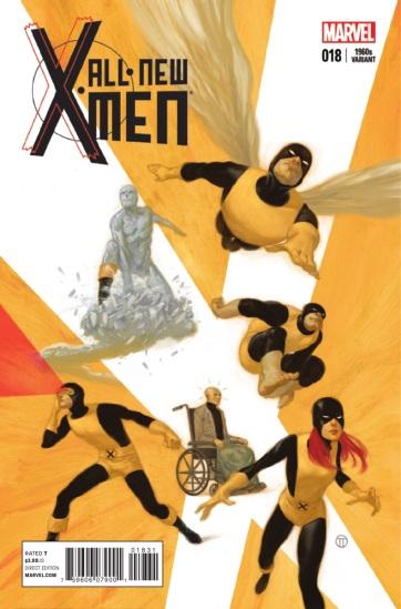 Capa especial com os X-Men originais dos anos 1960.