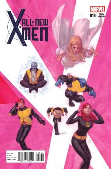 Capa representa os X-Men dos anos 2000, especialmente na fase de Grant Morrison.
