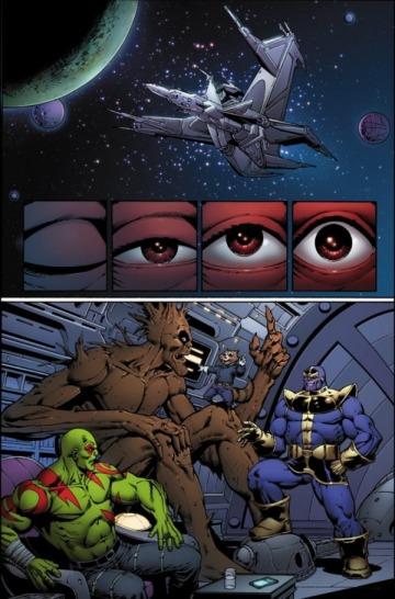 Página da graphic novel, por Jim Starlin...