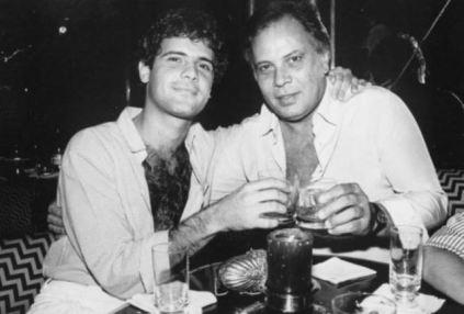 Cazuza e o pai, João Araújo: fundador da gravadora Som Livre.