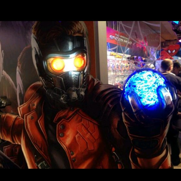 guardians of the galaxy toy fair poster star-lord and orbe