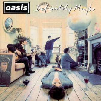 A capa de Definitely Maybe, de 1994.