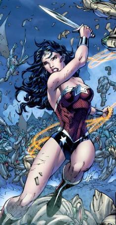 A Mulher-Maravilha em Os Novos 52. Arte de Jim Lee.