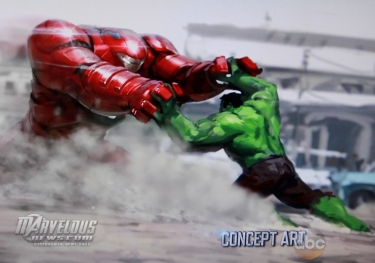 Arte conceitual de A Era de Ultron: rumores sobre o fim do filme.