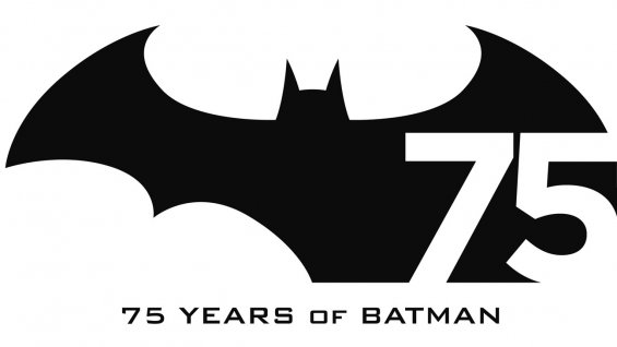 Logo oficial da DC Comics sobre os 75 dos Batman!