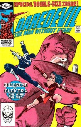 Demolidor, Elektra e o Mercenário: drama carregado por Frank Miller.