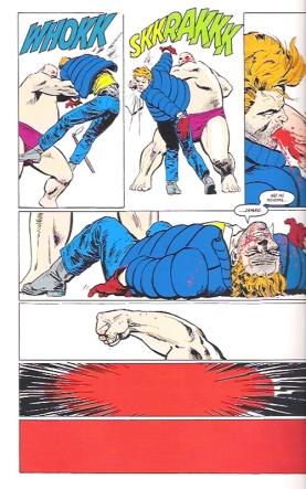 Desesperado, Murdock investe contra o Rei do Crime.