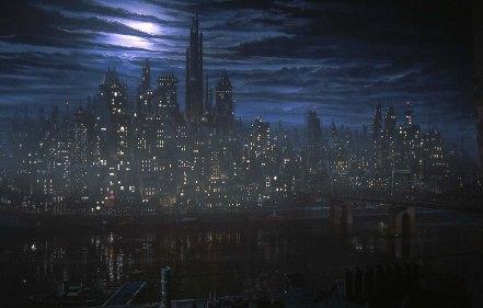 O premiado visual de Gotham no filme de tim Burton.