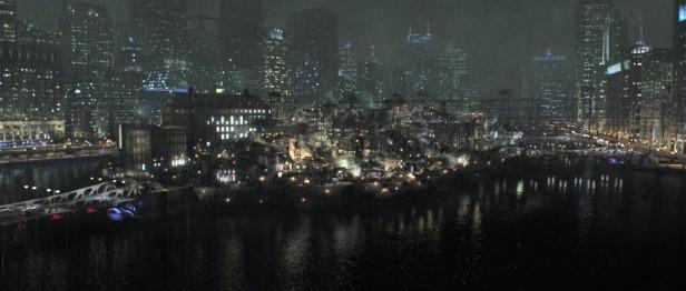 Gotham com o Narrows em destaque de Batman Begins.