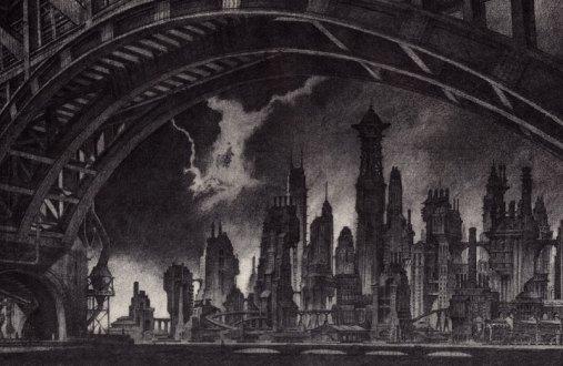 Gotham vista de uma das pontes. Site da DC Comics.