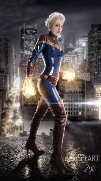 Cosplay com a Capitã (Miss) Marvel.