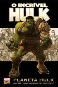 Capa da versão brasileira de Planeta Hulk, da Panini: no cinema?