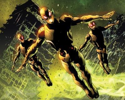 Drones de Ultron nos quadrinhos.