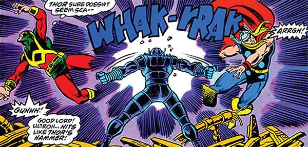 Ultron versus Magnum e Thor.