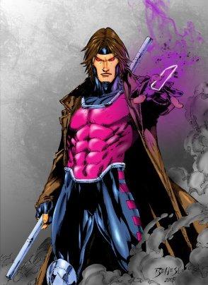 Gambit nos quadrinhos, na arte do brasileiro Ed Benes.