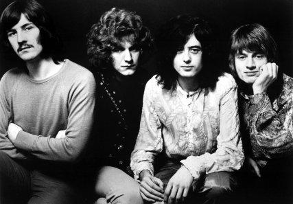 O Led Zeppelin em 1969: Bonham, Plant, Page e Jones.
