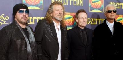 O Led Zeppelin reunido em 2012 para o lançamento de um álbum ao vivo.