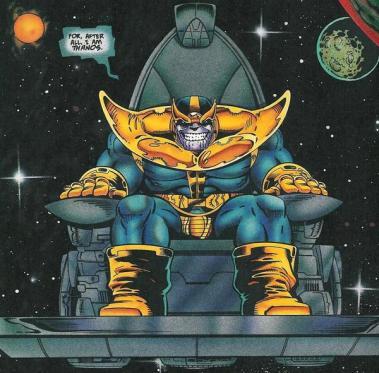 Thanos: presente em Guardiões da Galáxia e em Os Vingadores - A Era de Ultron.