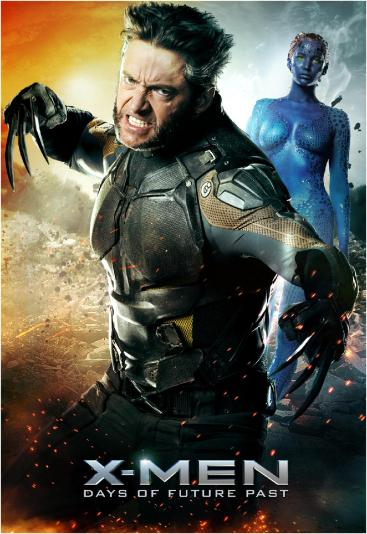 Hugh Jackman como Wolverine em Dias de Um Futuro Esquecido.
