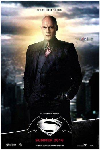 """Poster criado por fãs """"prevê"""" visual de Lex Luthor. Careca ou cabeludo?"""