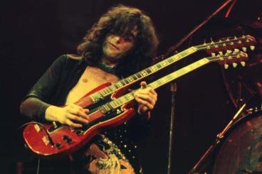 Page nos anos 1970 no Led Zeppelin.