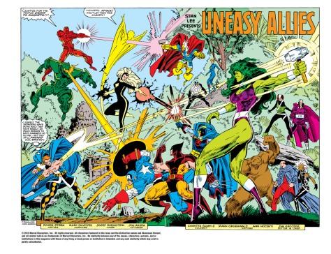 X-Men, Vingadores e Sovietes Supremos em batalha na bela arte de Marc Silvestri.