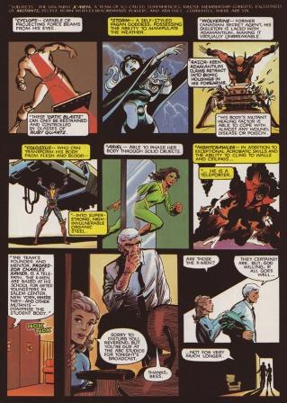 X-Men lutando contra inimigos comuns: batalha de ideias, não de punhos.