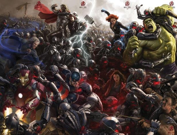 O poster completo de A Era de Ultron.