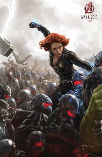 ... e Viúva Negra combatem os drones de Ultron.