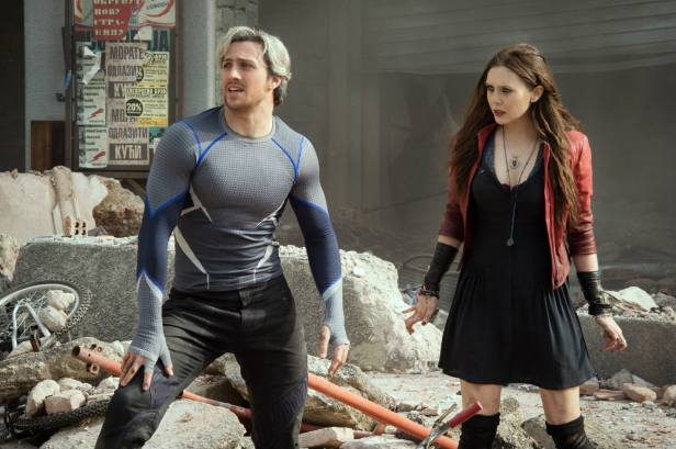 ageofultron official twins quicksilver and scarlet witch