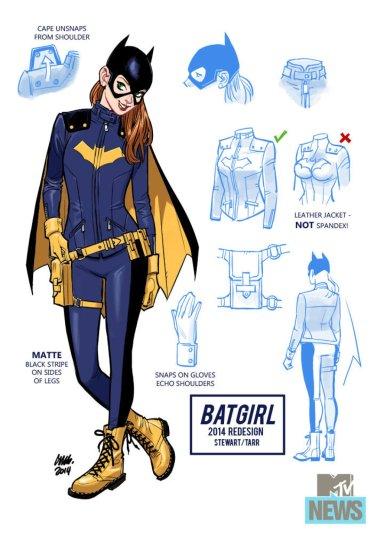 Esquema de design da Batgirl.