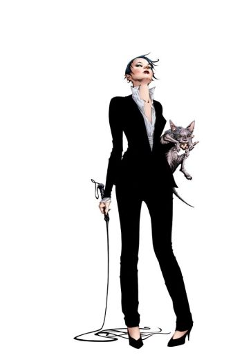 A Mulher-Gato chefe da mafia.