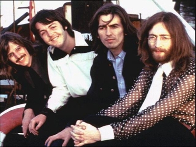 Os Beatles em abril de 1969, quando as gravações estavam no início.