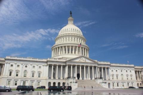 O prédio do Capitólio, em Washington, DC, onde fica o Congresso dos EUA.