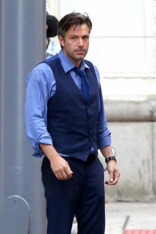 Ben Affleck como Bruce Wayne: boa forma aos 45 anos.