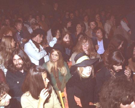 Harrison, Starr e Lennon no Festival da Ilha de Wight.
