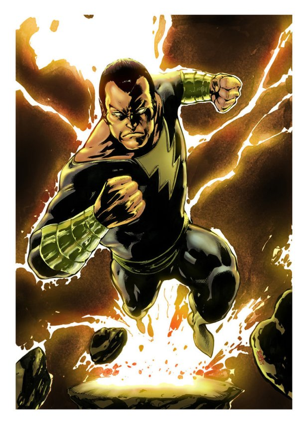 black adam pin up