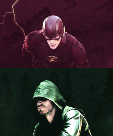 Flash e Arrow: dividindo o mesmo espaço na TV.