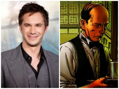 James D'Arcy e o personagem Jarvis nos quadrinhos.