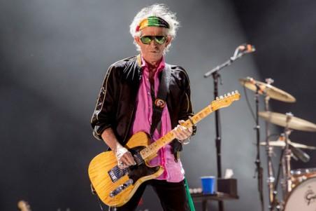 Keith Richards: trabalho solo em 2015.