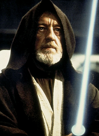 Alec Guiness como Obi-Wan Kenobi.