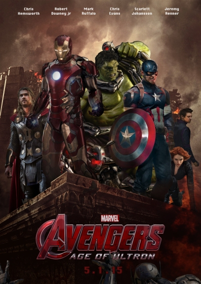 Poster feito por um fã para A Era de Ultron: mais Hulk e Gavião Arqueiro.