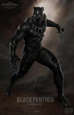 O Pantera Negra em arte conceitual do Marvel Studios.