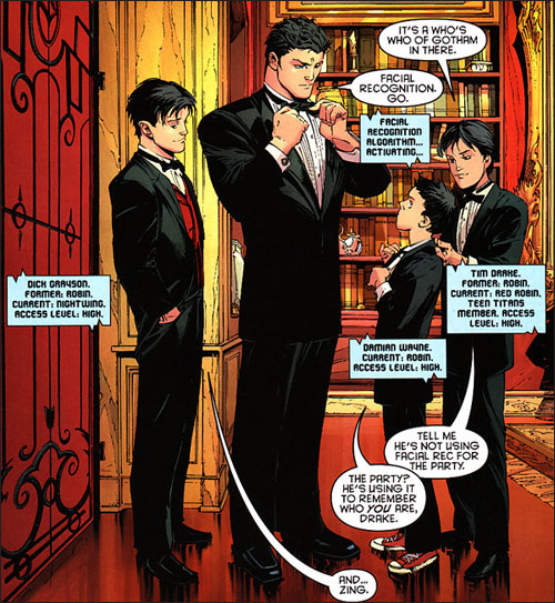 bruce wayne new 52 with greyson damian and drake