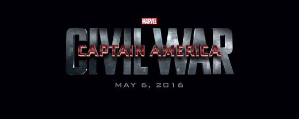 O logo de Capitão América - Guerra Civil: ruptura.