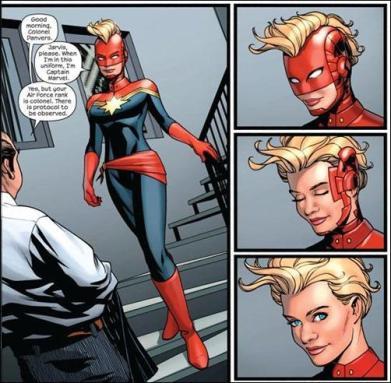 A Capitã Marvel mantém sua revista mensal apoiada em sua estreia no cinema?