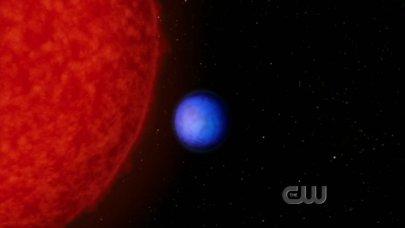 Krypton na órbita do sol Rao na versão de Smallville.