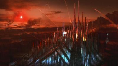 O design da cidade de Kandor, capital de Krypton, em Smallville.