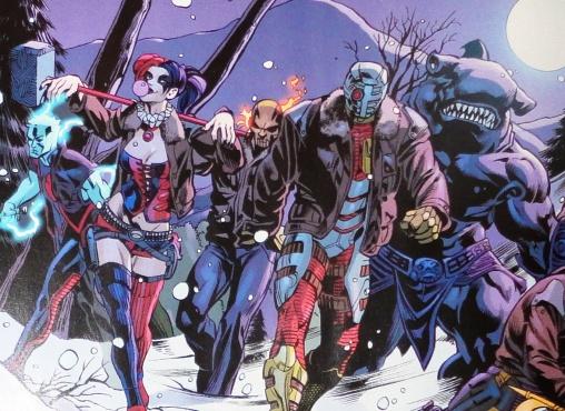 O Esquadrão Suicida em sua encarnação mais recente nos quadrinhos.